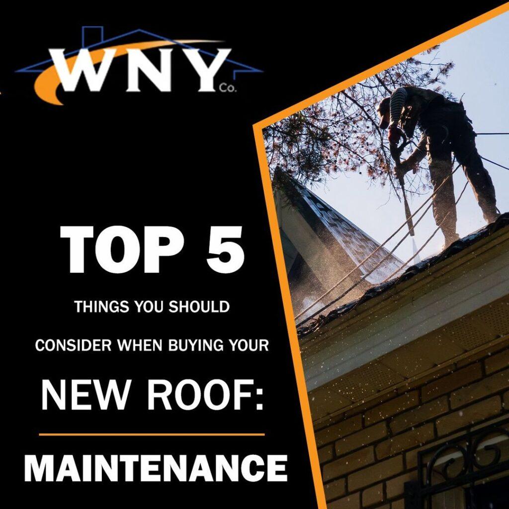 New Roof: Maintenance
